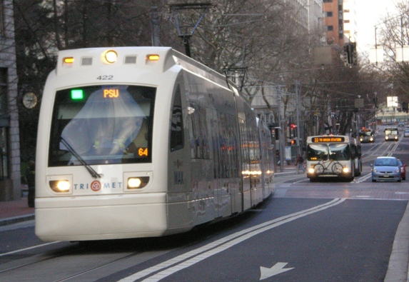Portland 5th Ave. transit mall. Photo: Dave Dobbs.