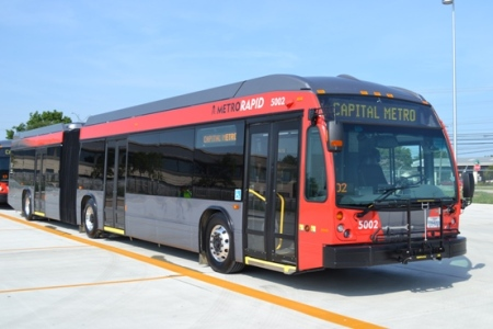 Capital Metro MetroRapid bus. Photo: CMTA blog.