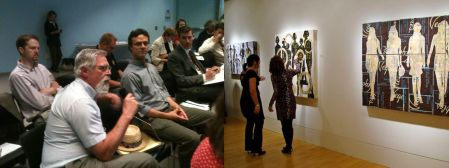 Community meeting (left) vs. art gallery (right)