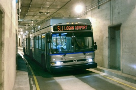 Boston Waterfront Silver Line. Photo: Massachusetts Government blog.