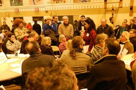 Minneapolis-area community meeting on proposed Southwest light rail project. Photo: Karen Boros.