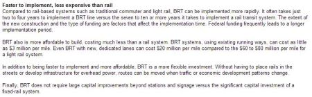 Snippet from Kyle Keahey's 2011 HNTB paper promoting BRT over rail transit (webpage version).