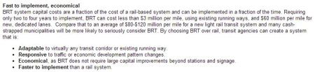 Snippet from Kyle Keahey's 2014 HNTB paper promoting BRT over rail transit (webpage version).