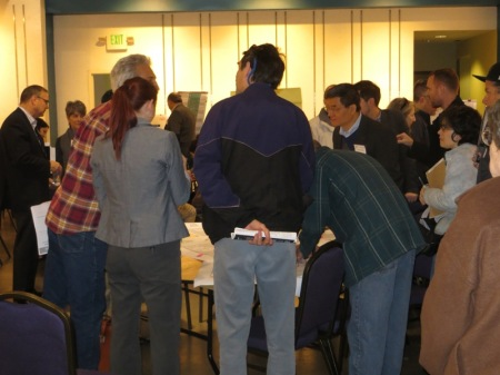 """Structured around issue-oriented tables, Project Connect's Feb. 8th """"interactive workshop"""" finally managed to get dozens of community participants engaged in lively discussion."""