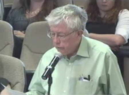 Lyndon Henry speaking to Central Corridor Advisory Group, 16 May 2014. Screenshot from City of Austin video.