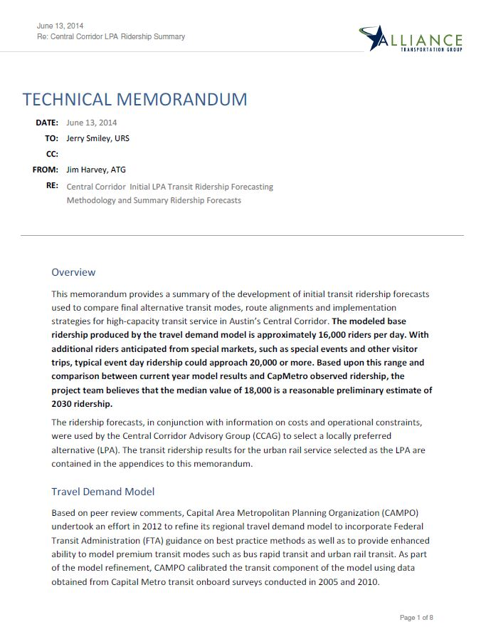 technical description memorandum The purpose of this technical memorandum is to: (1) detailed descriptions of the recommendations summarized below begin on page 12 of this memorandum.