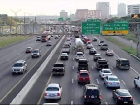 "I-35 is the most congested roadway in Texas. But is this really the main travel corridor for commuters from ""Highland-Riverside"" neighborhoods to the Core Area? And would Project Connect's proposed urban rail line have any perceptible impact? Photo source: KVUE-TV."