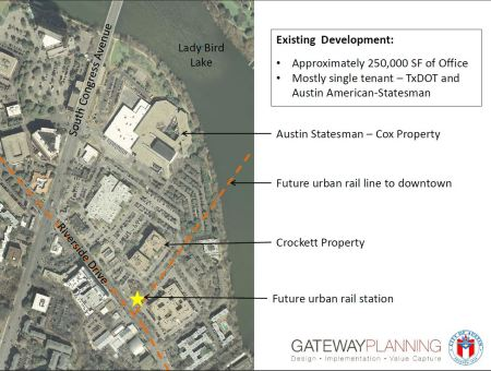 Slide from 2012 Gateway presentation to TWG showed adjacent South Shore property owners that stood to benefit.
