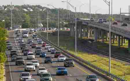 Suburban highways, freeways, and tollways like Loop 1 (MoPac) have driven suburban sprawl, forcing dependency on personal motor vehicles for nearly all local transportation. CAMPO's planning continues to be focused mainly on promoting suburban growth through further roadway expansion. Photo: CTRMA.