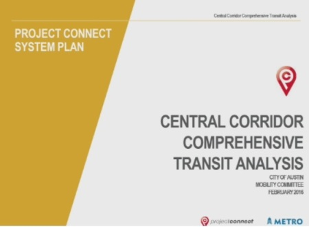 Title slide of Capital Metro's CCCTA presentation to Austin City Council Mobility Committee on Feb. 3rd. Screen capture: ARN.
