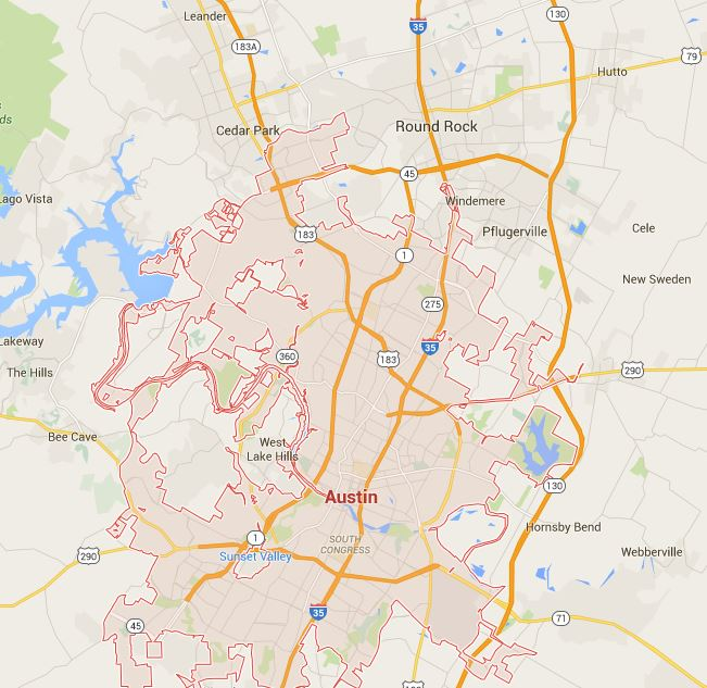 Vision For An Austin Metrowide Light Rail System Rail Now - Austin metro area map