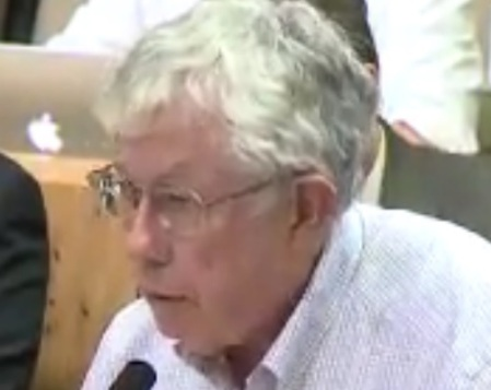 Lyndon Henry presenting comments to City of Austin Mobility Committee on June 14th. Photo: Screenshot from ATXN video.