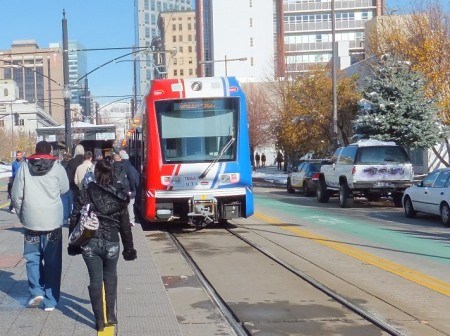 With its LRT system, opened in 1999, Salt Lake City is one of many peer cities that have sped past Austin in their public transport development. Photo: Dave Dobbs.