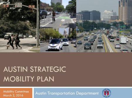 Austin Strategic Mobility Plan (title slide from official presentation)